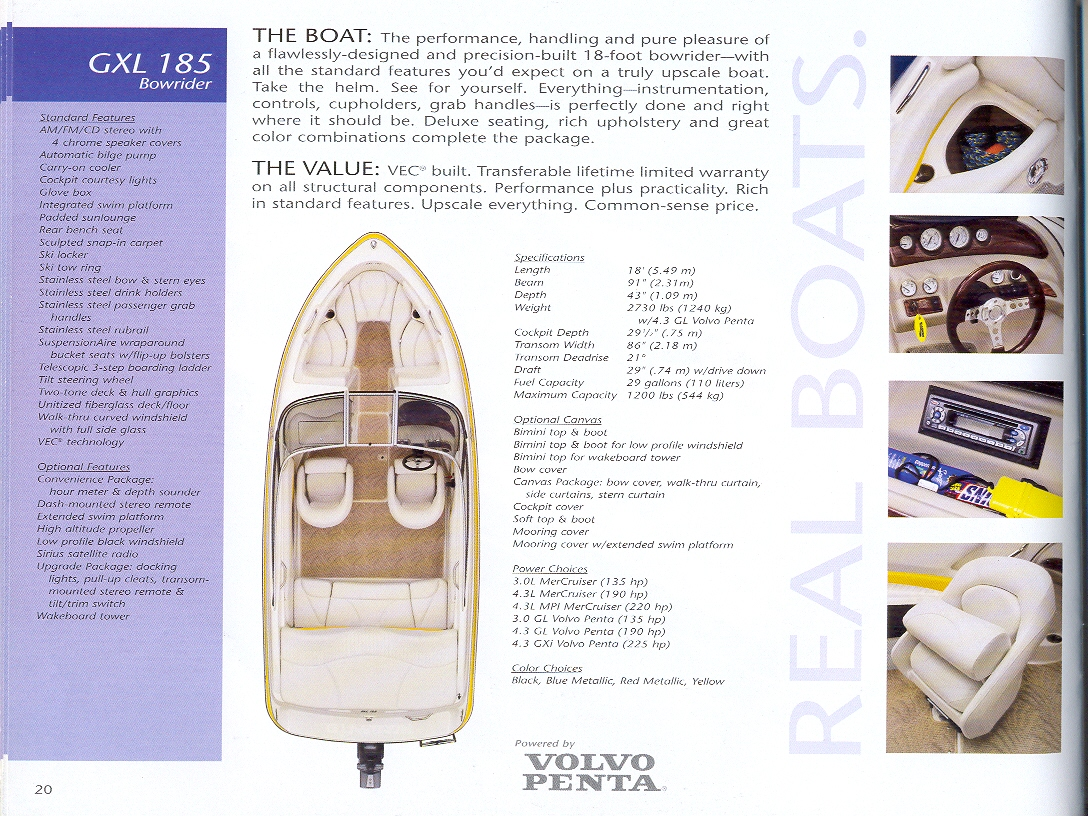 2019 Glastron® Boat Catalog, Parts List, & Product Information
